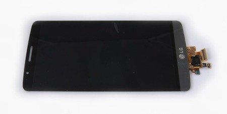 WYŚWIETLACZ LCD+DIGITIZER DOTYK LG G3 D855 SZARY